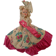 Marie Antoinette doll with hand-made dress c.1950's