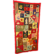 SOLD Incredible 1893 Patch Work Quilt Tom the Cat,Parasol,Genie Lamp Pocket Watches and Belle