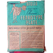 A Set of Apollo Ferrotype Tintype Photo Camera Plate