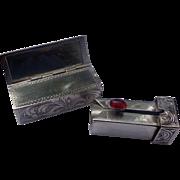 Swanky Art Deco Sterling Silver Lipstick holder