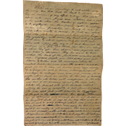 GREAT 19th c.American Pioneer Immigrant Letter Ruthless People and Heartless Indians Hardin ..