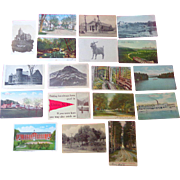 Union Laconia Keene Durham New Hampsire Postcard Collection RPPC
