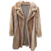 GORGEOUS Mink Fur Coat from Broadway Singer