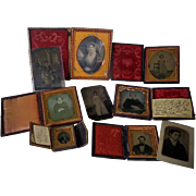 Horace Bundy Daguerreotype Photrographic Archive of David Slough Family Alloway,New Jersey and