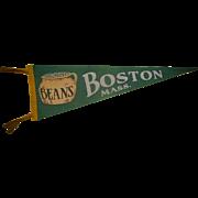 Boston Beans Boston,Mass Pennant c.1930's