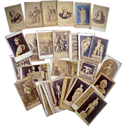 Collection of 38  Carte de Visite cdv's of European Works of Art & Treasures
