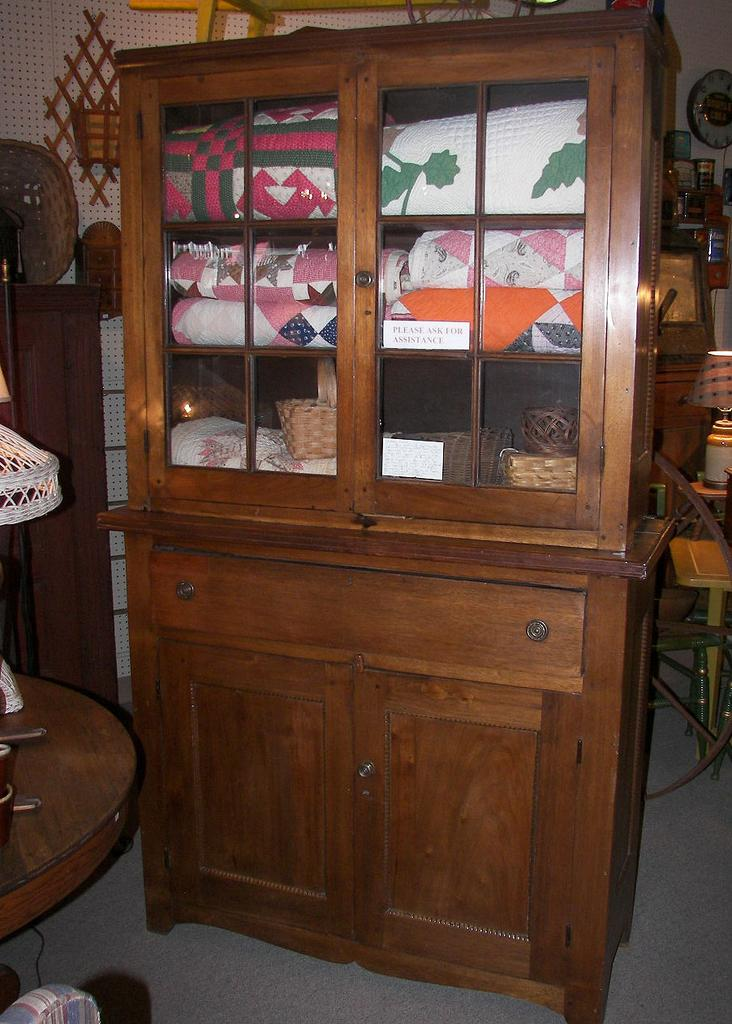 RARE ~1830's American Jackson Press Flatback Walnut Cabinet