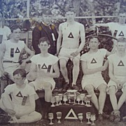 1880's Championship Bicycle Bone Crusher Team Cabinet Photo