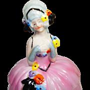 RARE Homer Conant German Dresser Doll Powder Jar