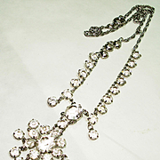 Dazzling Old Czech Open Back Crystal Necklace