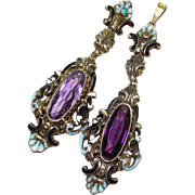 SALE LG Austro Hungarian Jeweled Enameled Pedants / ERs