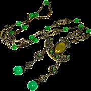 Elegant Edwardian Jeweled Renaissance Revival Sautoir Necklace