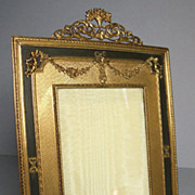 Antique French Empire Bronze and Ormolu Picture Frame