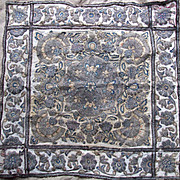 Antique Ottoman Turkish  Cover  Metallic Embroidery 18th Century