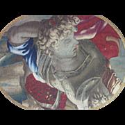 SOLD Antique Flemish Tapestry Fragment Rare 17th Century Textile Adonis