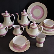 Noritake Porcelain Breakfast/Tea Set  19 pieces  Red Morimura mark, 1930's