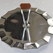 Art Deco Silverplate Handled Cake/Sandwich Tray C. 1920's