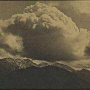 """Gelatin Silver Sepia Print """"Strawberry Peak, San Gabriel Mountains"""" Circa 1920's"""