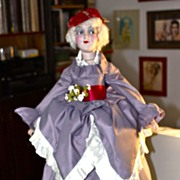 "1920'S 30"" Art Deco Flapper Beauty Boudoir Doll"