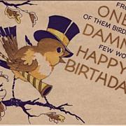 SOLD Art Deco Birthday Greetings Circa 1930's