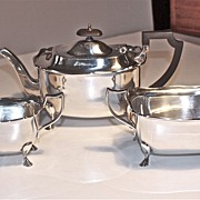 Edwardian period EPNS 3-piece Tea Set