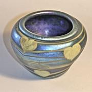 John Barber Hand Blown Iridescent Art Glass Vase C. 1981