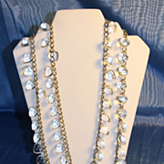 Lucite and Aluminum Necklace