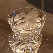 "Hawkes Crystal ""Satin Iris"" 6-Champagne/Sherbet Glasses"