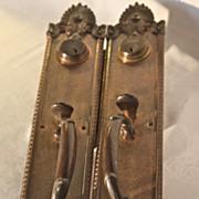 Antique Yale Bronze Thumb Paddle Entry Set