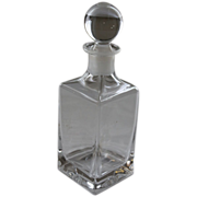 Square Lead Crystal Whiskey Decanter