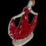 Art Deco Moriyama Hinode Porcelain Dancing Woman Circa 1930's