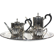 Lunt Silversmiths R1004PC Revere Tea and Coffee Service with Tray