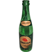 Carling's Red Cap Ale 12oz.Green Beer Bottle with Label