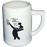 A Toast to Your Success  Dow Ale Kingsbeer Beer Mug