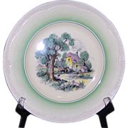 SALE Clarice Cliff 10 7/8 inch Cotswold Plate Newport Pottery