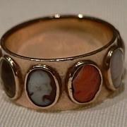 SALE SALE! Exquisite Georgian 9 Cameo Ring