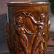 Vintage ART DECO Style Vase with Sensuous Dancing Maidens