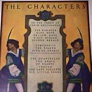 Maxfield Parrish Original 1925 Print THE CHARACTERS