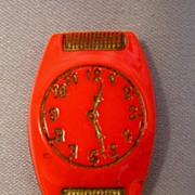 Unusual ~Czechoslovakia~ Glass Figural Wrist Watch Button