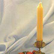 Wonderful Vintage Italian Enamel on Metal Strawberries and Leaves Candle Holder