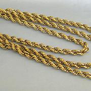 Fabulous Vintage Thick Fancy Chain Sautoir Necklace- 54 Inches
