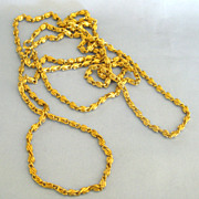 Fabulous Vintage Gold Tone Thick Link Sautoir Necklace- 53 Inches