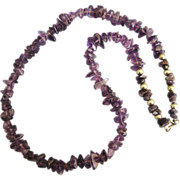 Lovely Vintage 1960's Amethyst Sterling Bead Necklace