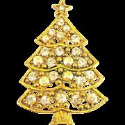 Vintage Eisenberg AB Rhinestone Christmas Tree Pin