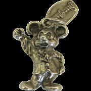 Vintage Sterling Disney Mickey Mouse Charm- Disneyland