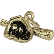 Sterling Baseball Glove, Ball & Bat Charm