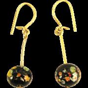 Vintage Italian Murano Glass GF Pierced Earrings