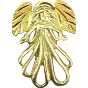 Lovely Sterling Gold Plate Angel Pendant or Charm