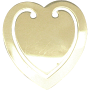 Lovely Vintage Sterling Heart Book Mark- Reed and Barton