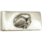Vintage Taxco Sterling Money Clip with Dog
